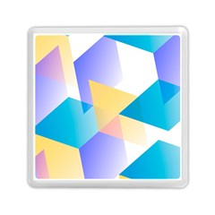 Geometric 03 Blue Memory Card Reader (square)  by MoreColorsinLife