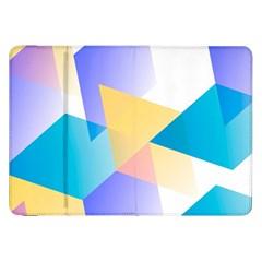 Geometric 03 Blue Samsung Galaxy Tab 8 9  P7300 Flip Case by MoreColorsinLife