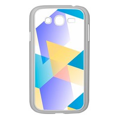 Geometric 03 Blue Samsung Galaxy Grand Duos I9082 Case (white) by MoreColorsinLife