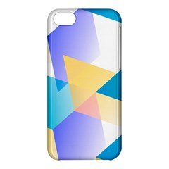 Geometric 03 Blue Apple Iphone 5c Hardshell Case by MoreColorsinLife