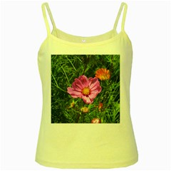Amazing Garden Flowers 24 Yellow Spaghetti Tanks by MoreColorsinLife
