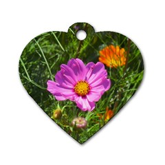Amazing Garden Flowers 24 Dog Tag Heart (two Sides) by MoreColorsinLife