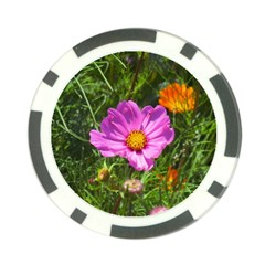 Amazing Garden Flowers 24 Poker Chip Card Guards (10 pack)  by MoreColorsinLife