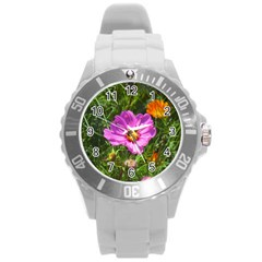 Amazing Garden Flowers 24 Round Plastic Sport Watch (l) by MoreColorsinLife