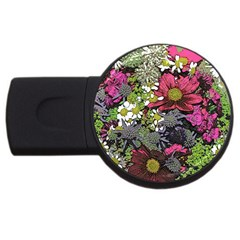 Amazing Garden Flowers 21 Usb Flash Drive Round (4 Gb)  by MoreColorsinLife