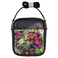 Amazing Garden Flowers 21 Girls Sling Bags by MoreColorsinLife
