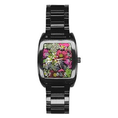 Amazing Garden Flowers 21 Stainless Steel Barrel Watch by MoreColorsinLife