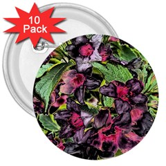 Amazing Garden Flowers 33 3  Buttons (10 Pack)  by MoreColorsinLife
