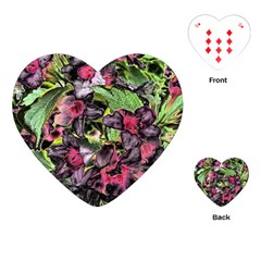 Amazing Garden Flowers 33 Playing Cards (heart)  by MoreColorsinLife