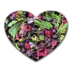 Amazing Garden Flowers 33 Heart Mousepads by MoreColorsinLife
