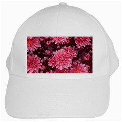Awesome Flowers Red White Cap by MoreColorsinLife