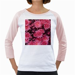 Awesome Flowers Red Girly Raglans by MoreColorsinLife