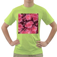 Awesome Flowers Red Green T Shirt by MoreColorsinLife
