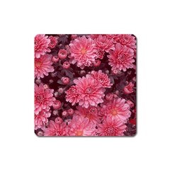 Awesome Flowers Red Square Magnet by MoreColorsinLife