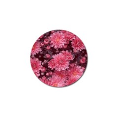 Awesome Flowers Red Golf Ball Marker by MoreColorsinLife