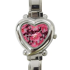 Awesome Flowers Red Heart Italian Charm Watch by MoreColorsinLife