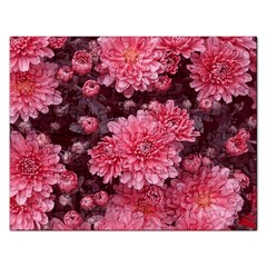 Awesome Flowers Red Rectangular Jigsaw Puzzl by MoreColorsinLife