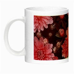 Awesome Flowers Red Night Luminous Mugs by MoreColorsinLife