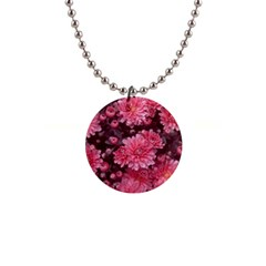 Awesome Flowers Red Button Necklaces by MoreColorsinLife