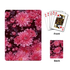 Awesome Flowers Red Playing Card by MoreColorsinLife