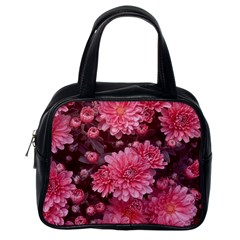 Awesome Flowers Red Classic Handbags (one Side) by MoreColorsinLife