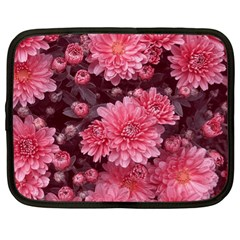 Awesome Flowers Red Netbook Case (xl)  by MoreColorsinLife