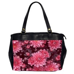 Awesome Flowers Red Office Handbags (2 Sides)  by MoreColorsinLife
