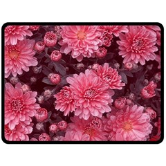 Awesome Flowers Red Fleece Blanket (large)  by MoreColorsinLife