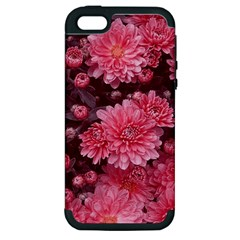 Awesome Flowers Red Apple Iphone 5 Hardshell Case (pc+silicone) by MoreColorsinLife