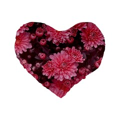 Awesome Flowers Red Standard 16  Premium Heart Shape Cushions
