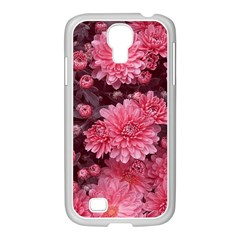 Awesome Flowers Red Samsung Galaxy S4 I9500/ I9505 Case (white)