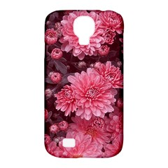Awesome Flowers Red Samsung Galaxy S4 Classic Hardshell Case (pc+silicone)