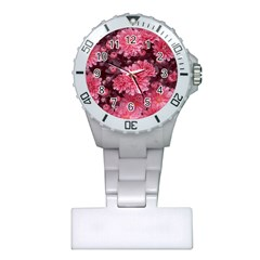 Awesome Flowers Red Nurses Watches
