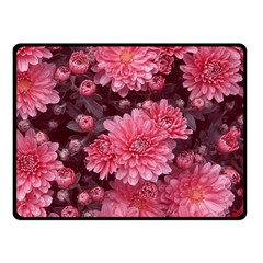 Awesome Flowers Red Double Sided Fleece Blanket (small)  by MoreColorsinLife