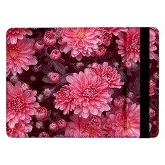 Awesome Flowers Red Samsung Galaxy Tab Pro 12.2  Flip Case by MoreColorsinLife