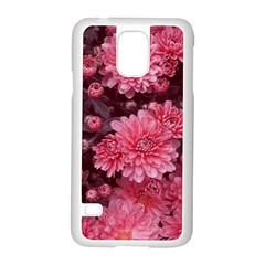 Awesome Flowers Red Samsung Galaxy S5 Case (white) by MoreColorsinLife