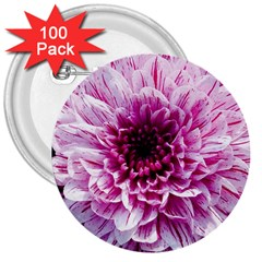 Wonderful Flowers 3  Buttons (100 Pack)