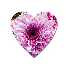Wonderful Flowers Heart Magnet