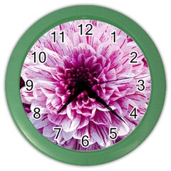 Wonderful Flowers Color Wall Clocks by MoreColorsinLife