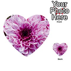 Wonderful Flowers Multi Purpose Cards (heart)