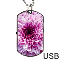 Wonderful Flowers Dog Tag USB Flash (One Side) by MoreColorsinLife