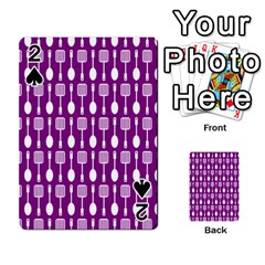 Magenta Spatula Spoon Pattern Playing Cards 54 Designs