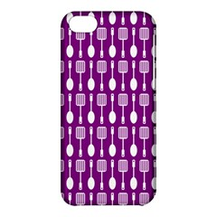 Magenta Spatula Spoon Pattern Apple Iphone 5c Hardshell Case by creativemom