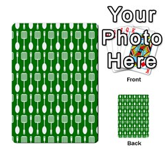 Green And White Kitchen Utensils Pattern Multi Purpose Cards (rectangle)