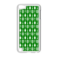 Green And White Kitchen Utensils Pattern Apple Ipod Touch 5 Case (white) by creativemom
