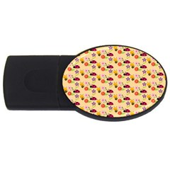 Colorful Ladybug Bess And Flowers Pattern Usb Flash Drive Oval (2 Gb)  by creativemom