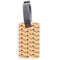 Colorful Ladybug Bess And Flowers Pattern Luggage Tags (one Side)  by creativemom