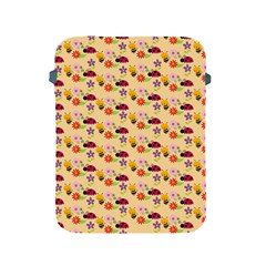 Colorful Ladybug Bess And Flowers Pattern Apple iPad 2/3/4 Protective Soft Cases by creativemom