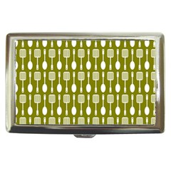 Olive Green Spatula Spoon Pattern Cigarette Money Cases by creativemom
