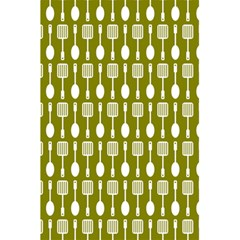 Olive Green Spatula Spoon Pattern 5 5  X 8 5  Notebooks by creativemom